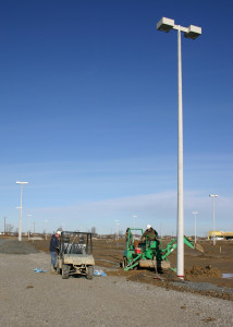 Setting Lighting Poles